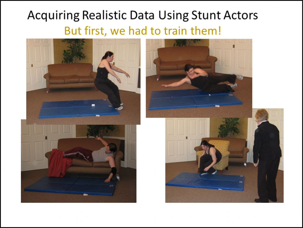 Acquiring Realistic Data using Stunt Actor